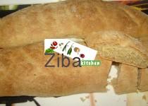 نان فرانسوی سبوسدار  ( نان سیلوی سیاه)