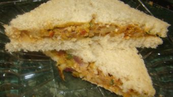 Stir Fried Veg Sandwich Recipe