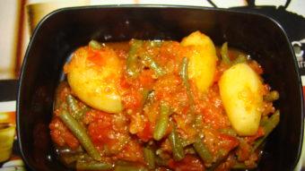 French Bean & Potato Stew Recipe