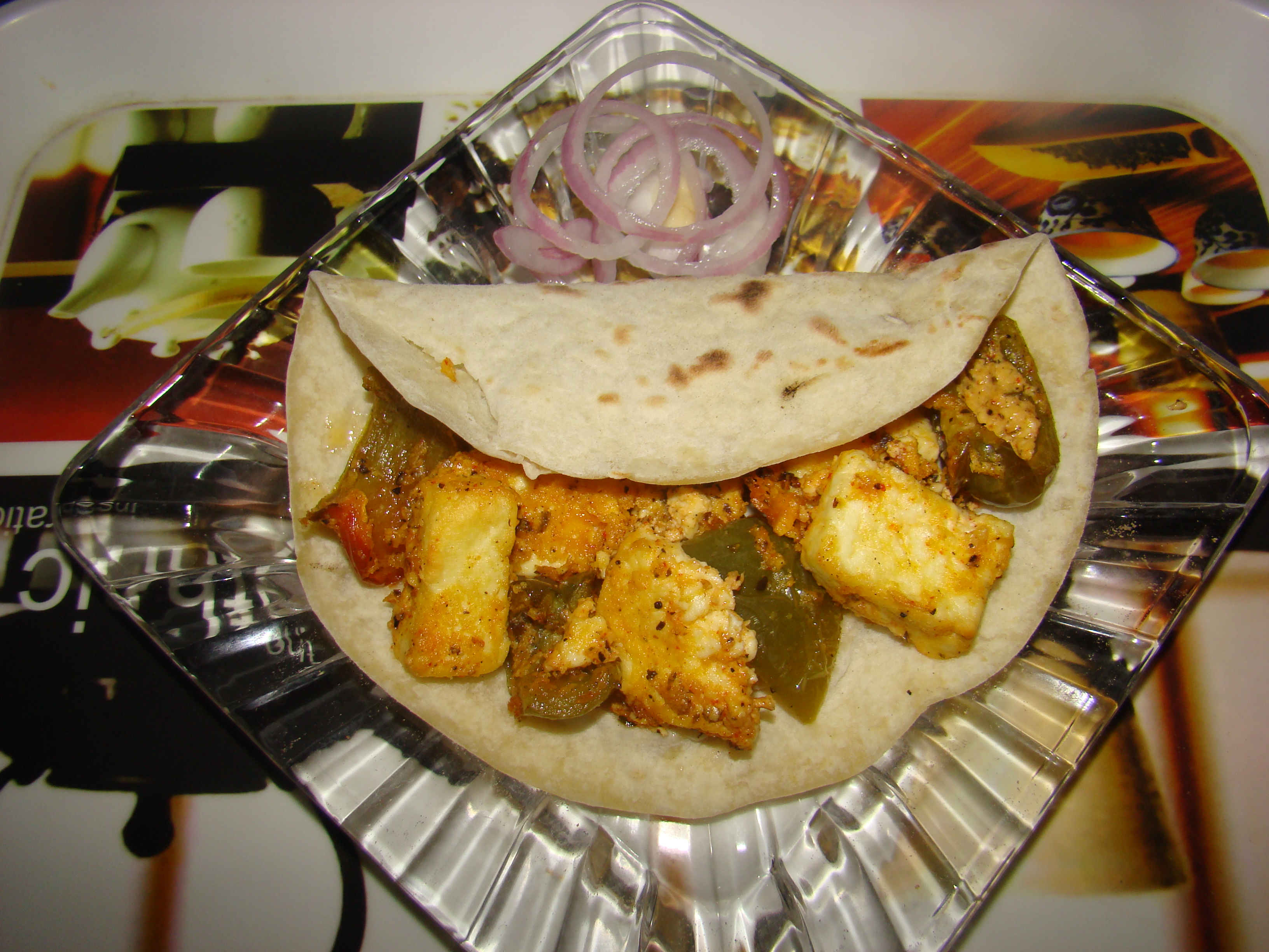 Baked Paneer Wrap Recipe
