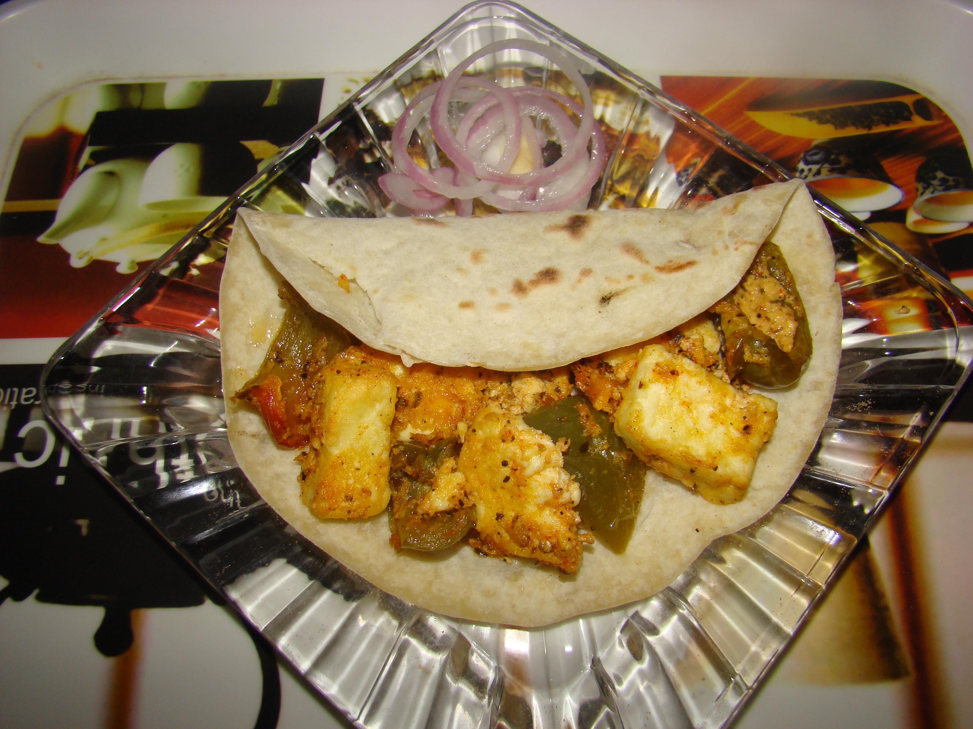 Baked Paneer Wrap Recipe