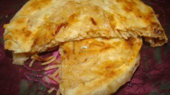 Naan Palau (Layered Rice stuffed Flat Bread) Recipe