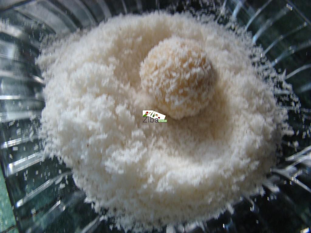 Ziba Kitchen ( Dast Pukht Afghani) - Indian Coconut Ladoo