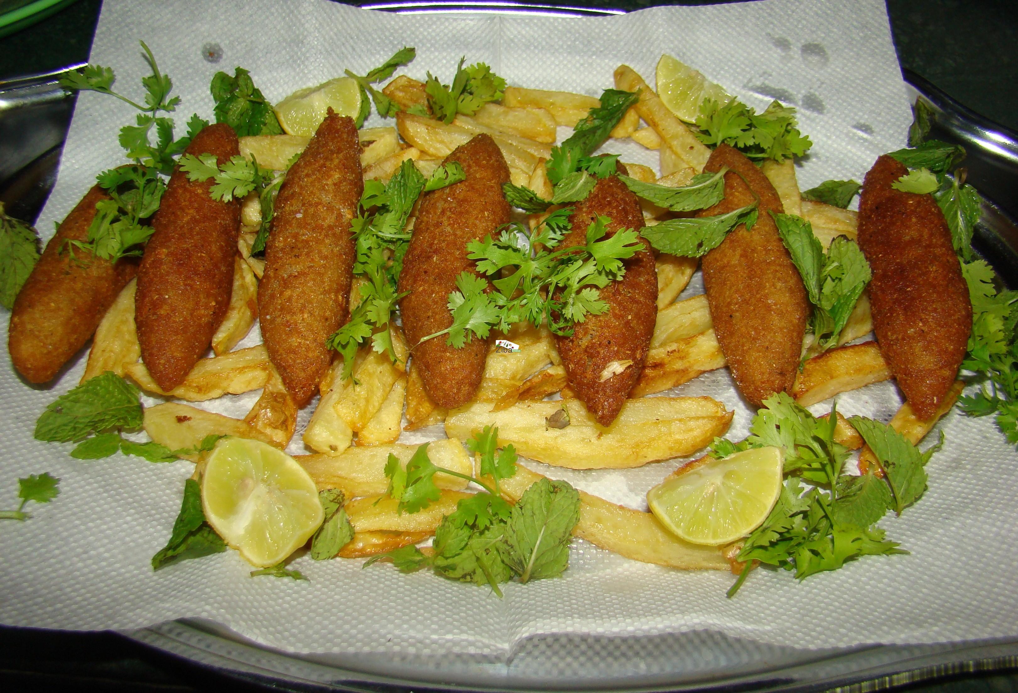 Lola/Shami Kabab Salad (Soya ) Recipe
