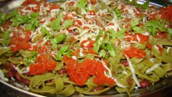 Spanich Pasta with Kidney Beans and Tomato Sauce Recipe