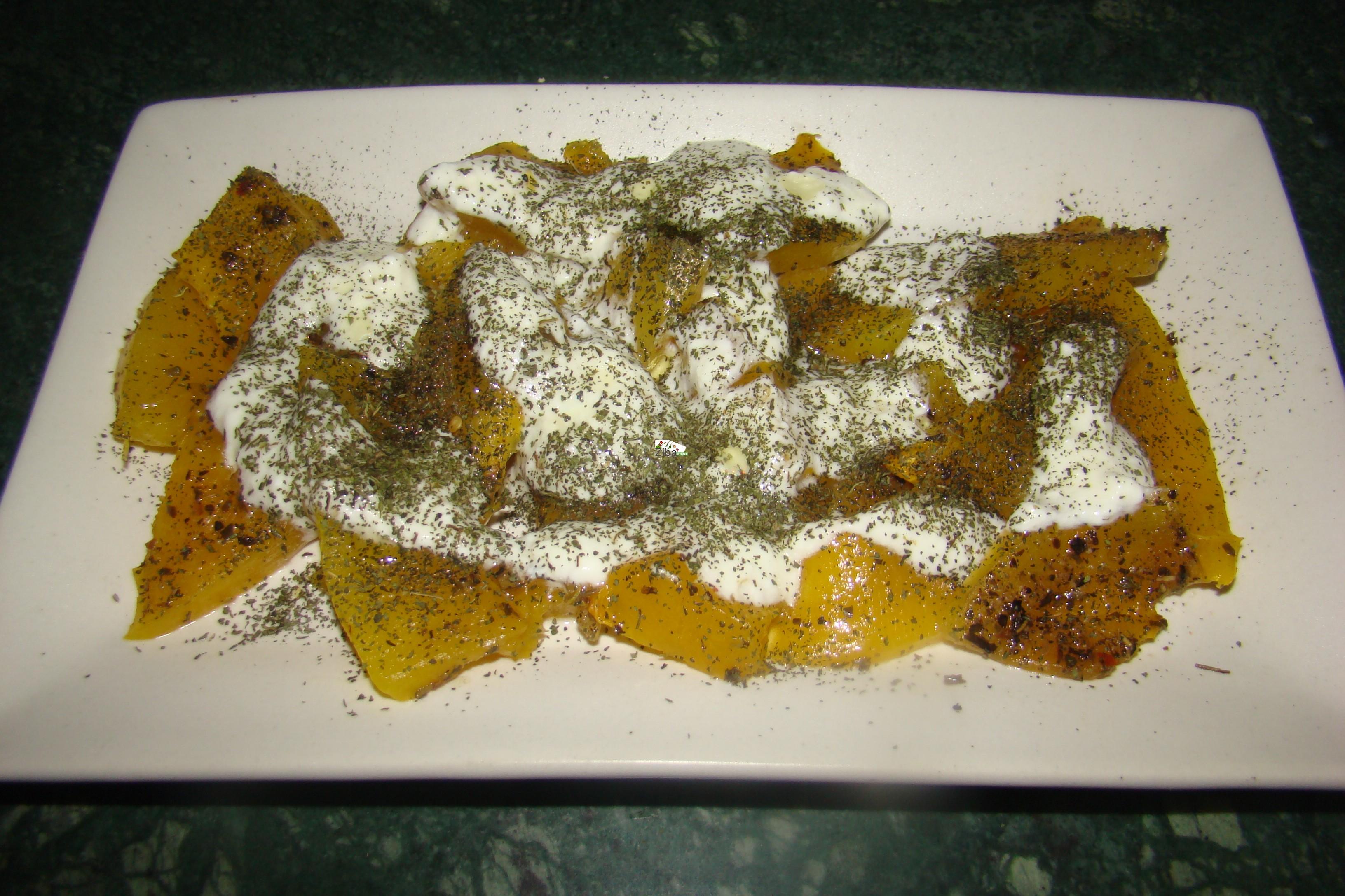 Borani Kadoo (baked pumpking with curd) Recipe
