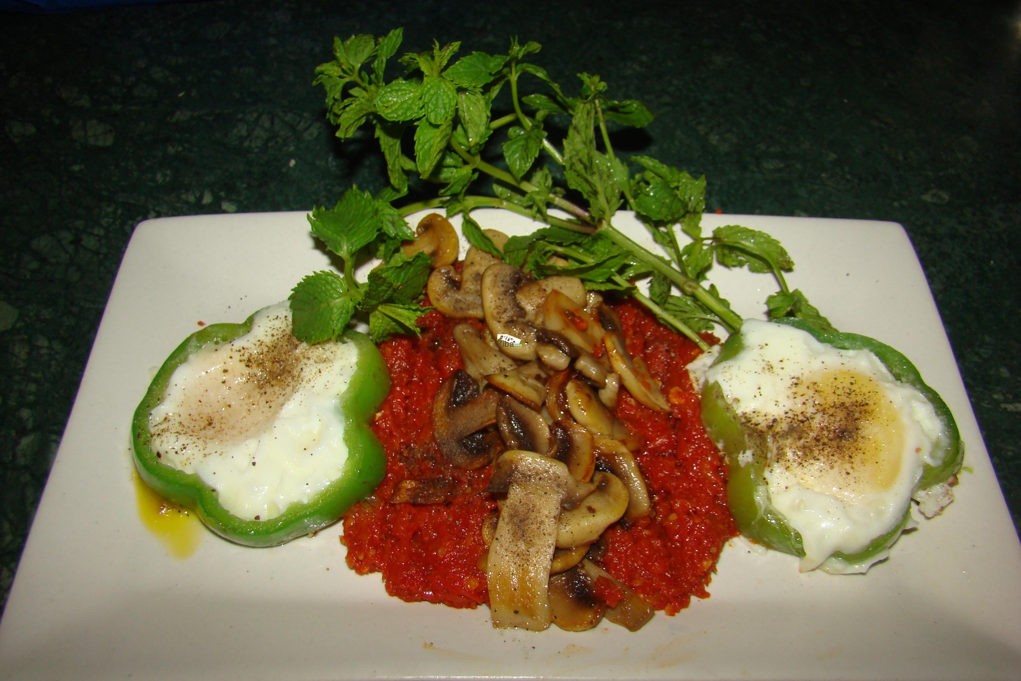 Tomato, Mushroom & Capsicum Egg Fried Recipe