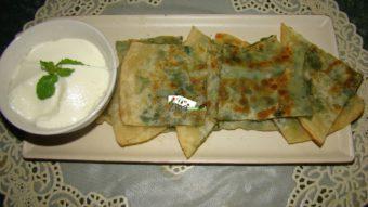 Leek Stuffed Flat Bread (bolani gandana) Recipe