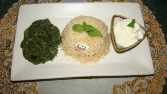 White Rice with Spinach Stew Recipe