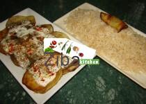 Eggplant with White Rice