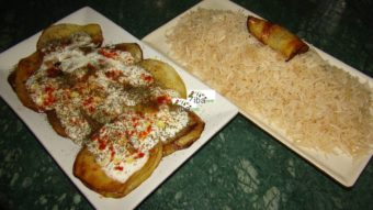 Eggplant with White Rice Recipe