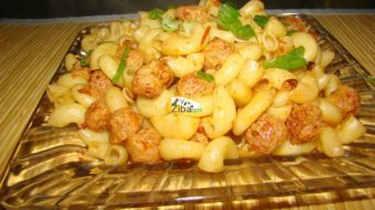 Macaroni with Soya Chunks Recipe