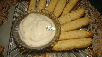 Cumin Biscuit with Garlic Cheese Dip Recipe
