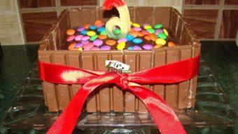 Kit Kat & Gems Chocolate Cake Recipe