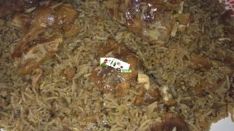 Kecheri Laandy (Dried Meat with Soft Rice &Mung) Recipe