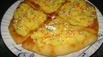 Dessert Custard Pizza Recipe