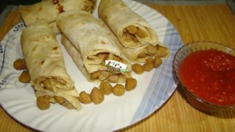 Soya Chunks Wrap Recipe
