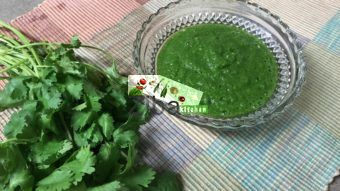 Cilantro or Shornakhod Chutney Recipe